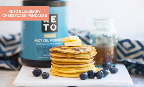 Keto Blueberry Cheesecake Pancakes
