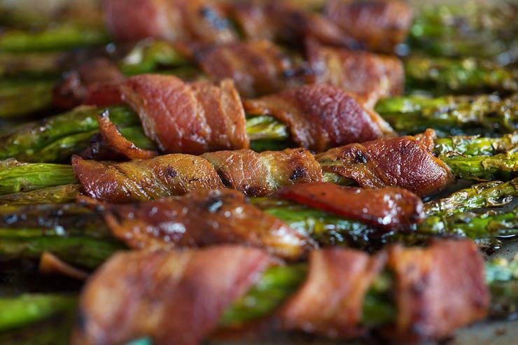 Crispy Keto Bacon Wrapped Asparagus