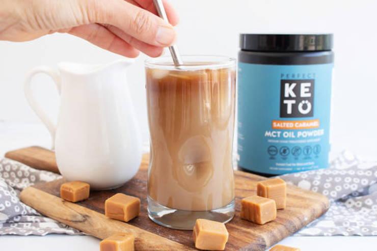 Homemade Keto Salted Caramel Coffee Creamer